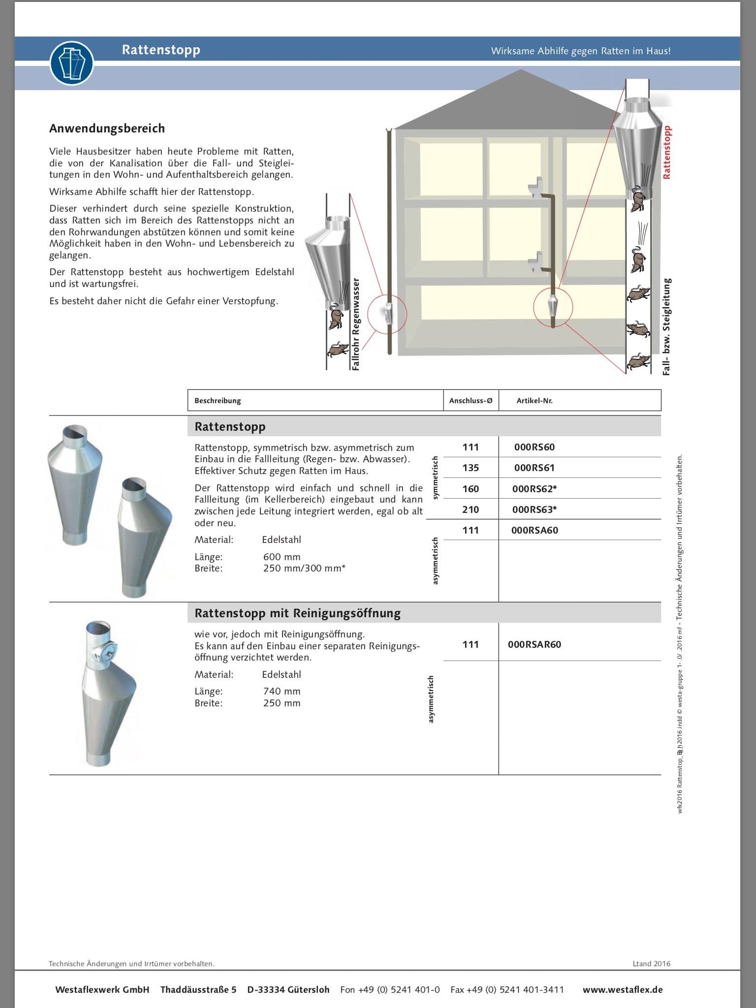 Information zum Rattenstopp der Fa. Westaflex 2/2