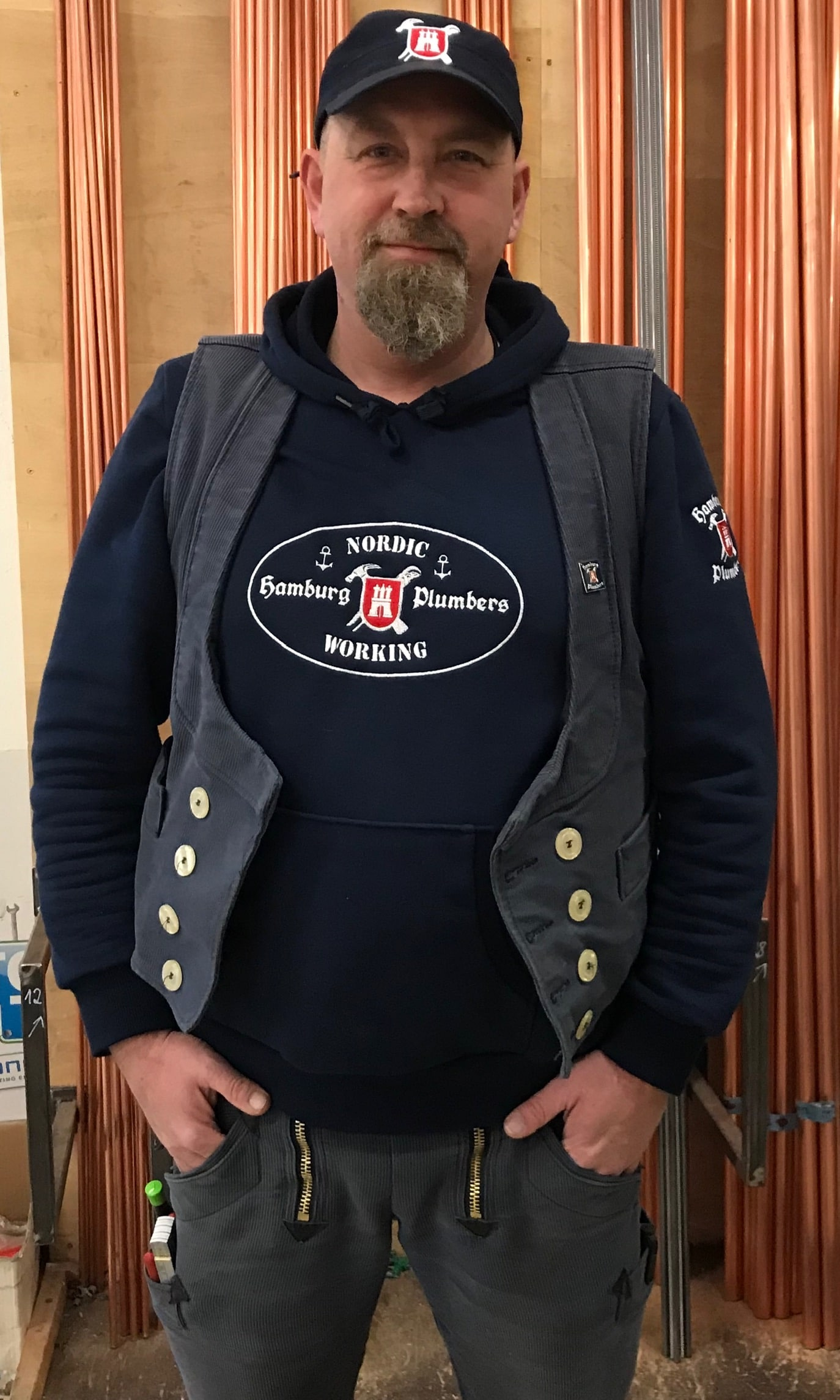 "Hamburg Plumbers Kapuzen-Sweater ""NORDIC WORKING"""